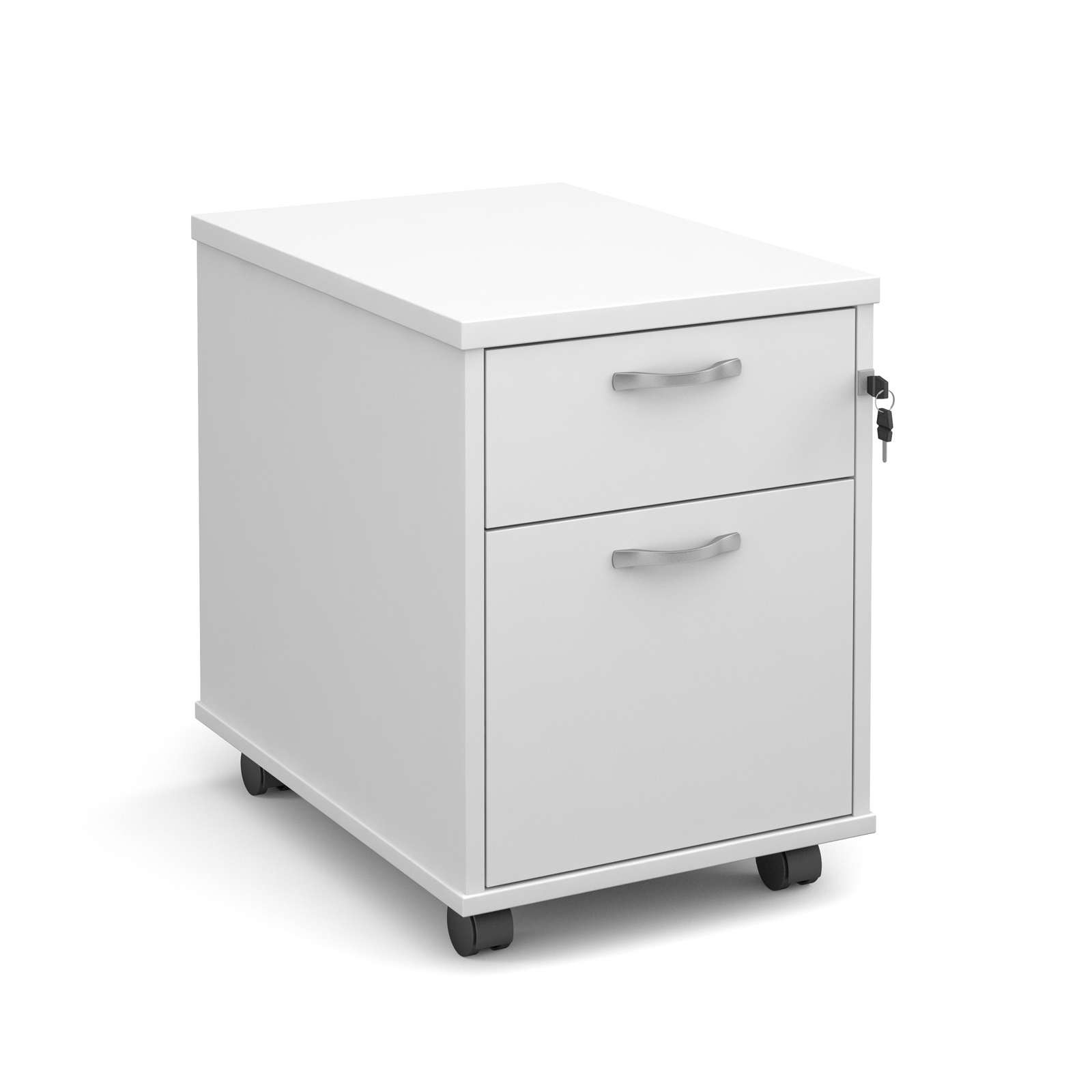 Dams Pedestal - Contract Under Desk - White
