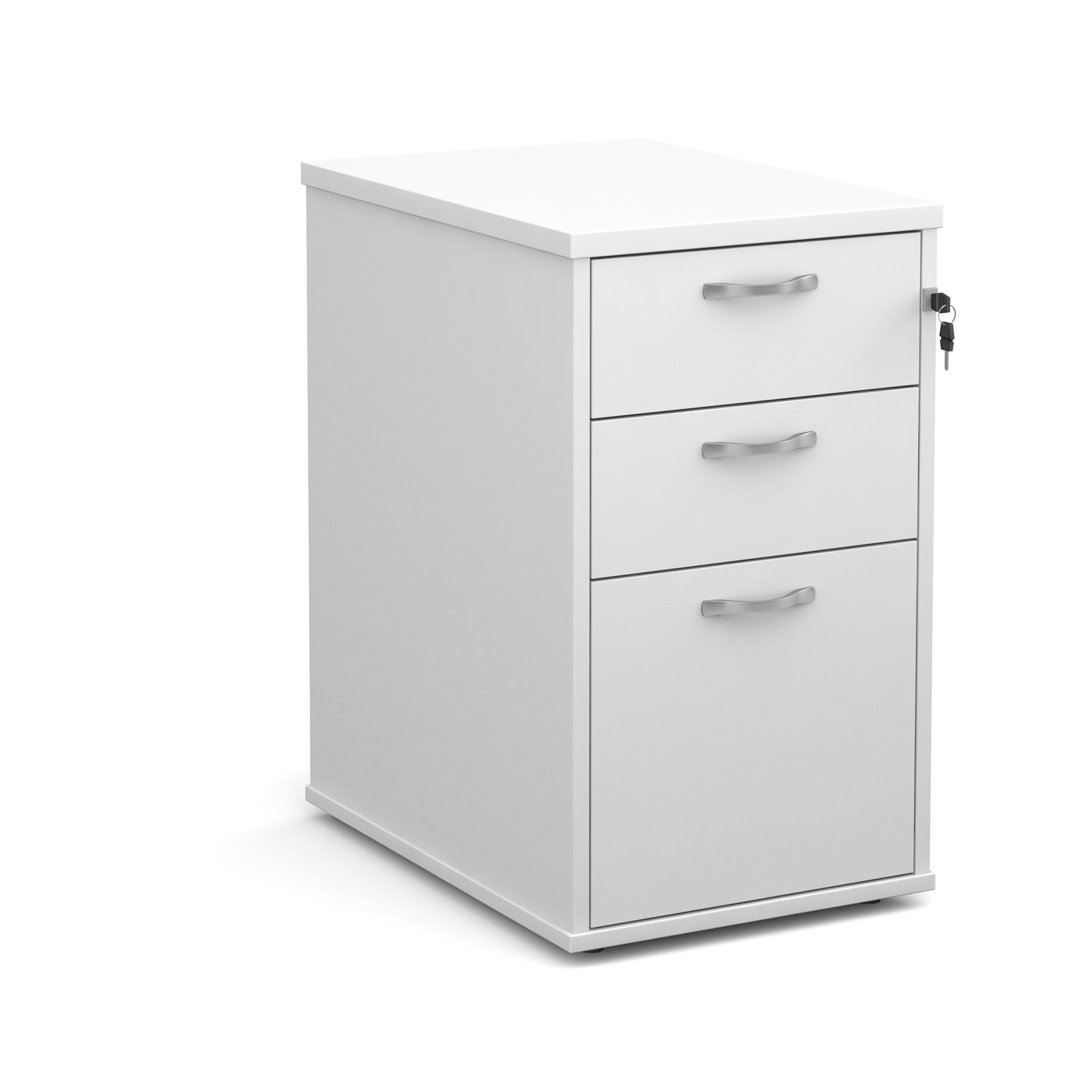 Dams Pedestal - Contract Desk High - White