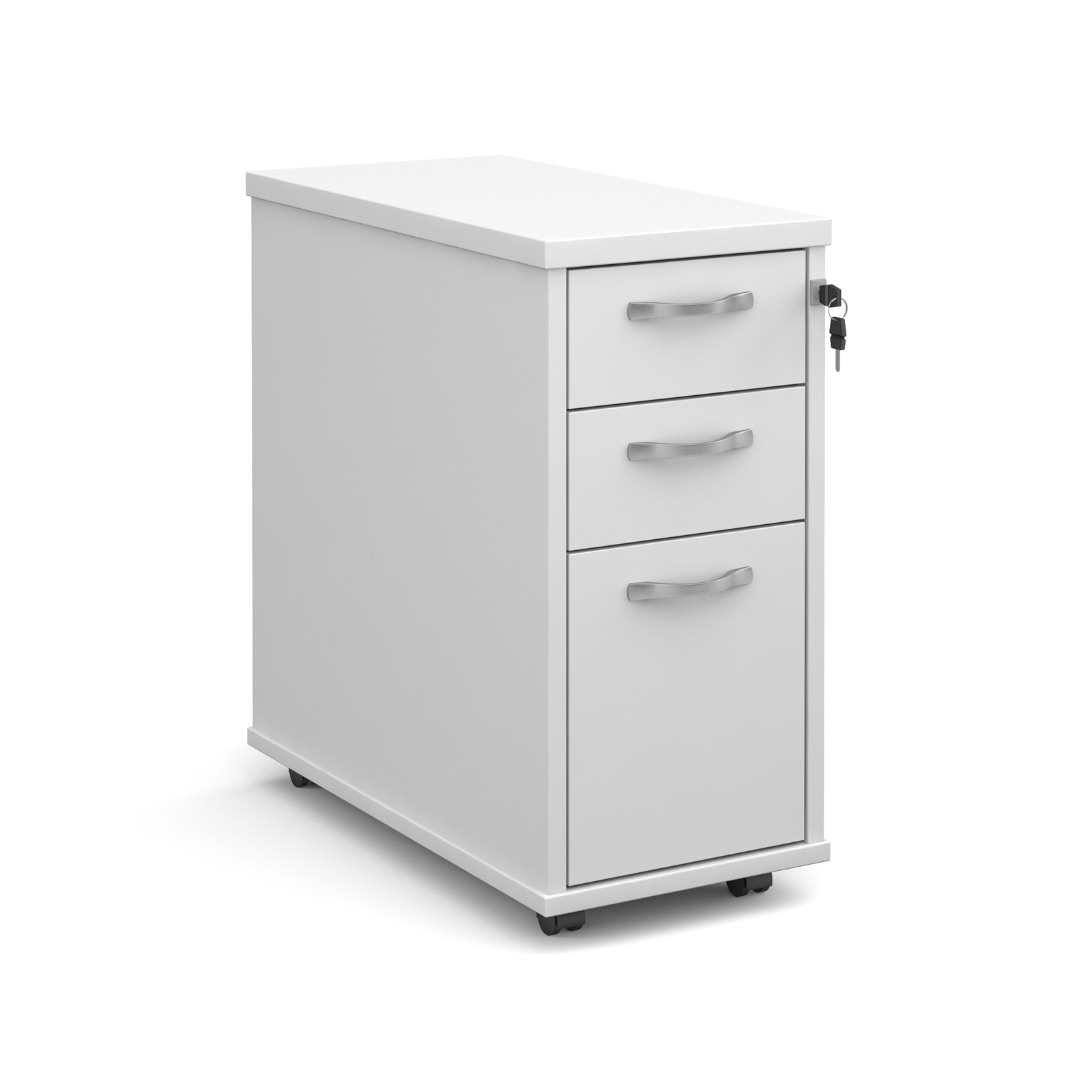 Dams Pedestal - Contract Slimline Under Desk - Whi