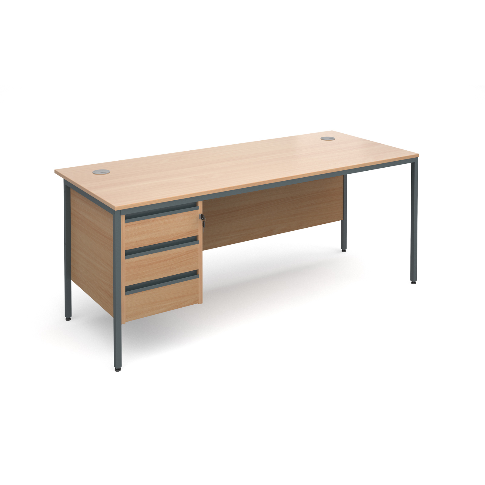 Home Office Furniture Uk Desk Set 18: Dams Maestro 18 Straight Office Desk Single Pedestal