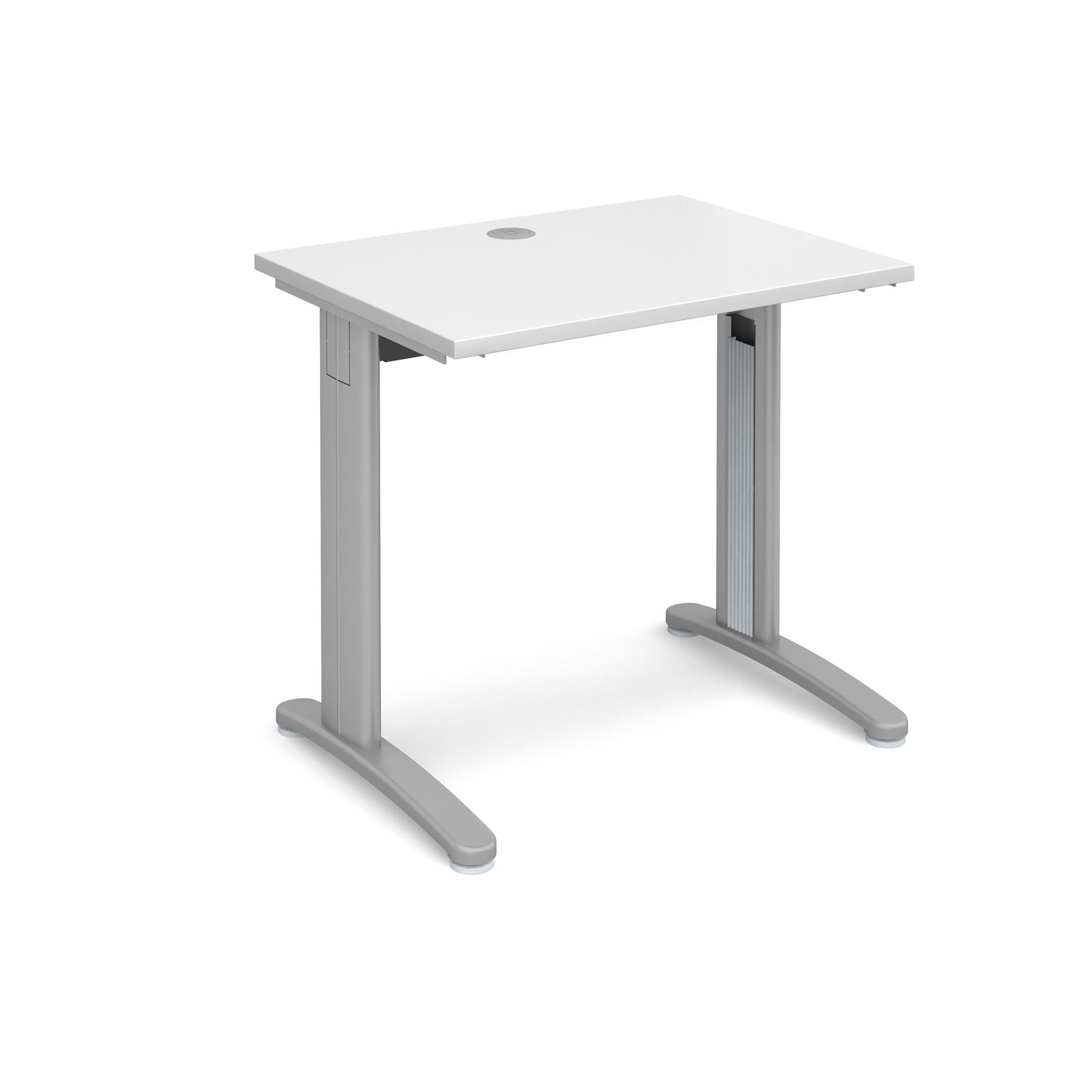 Dams TR10 White Desk | Straight 600 Deep