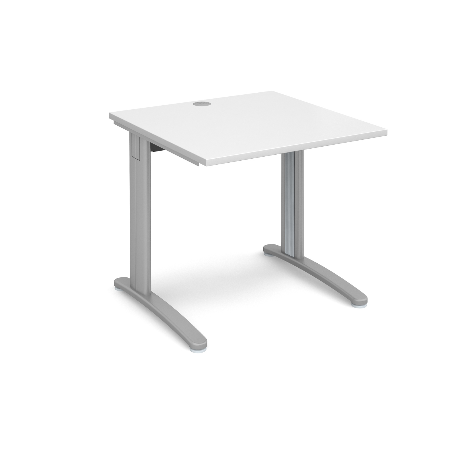 Dams TR10 Cable Manage Straight Desk 800mm White