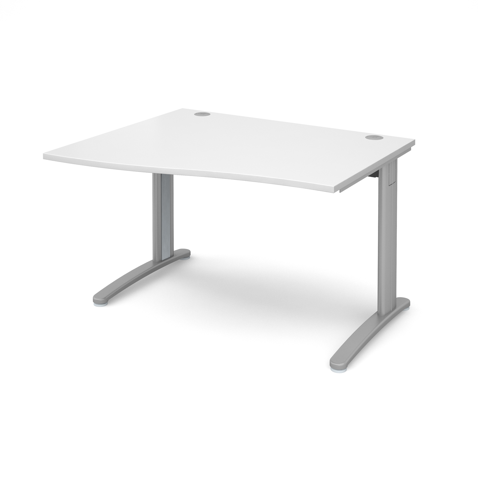 Dams TR10 Wave Desk White