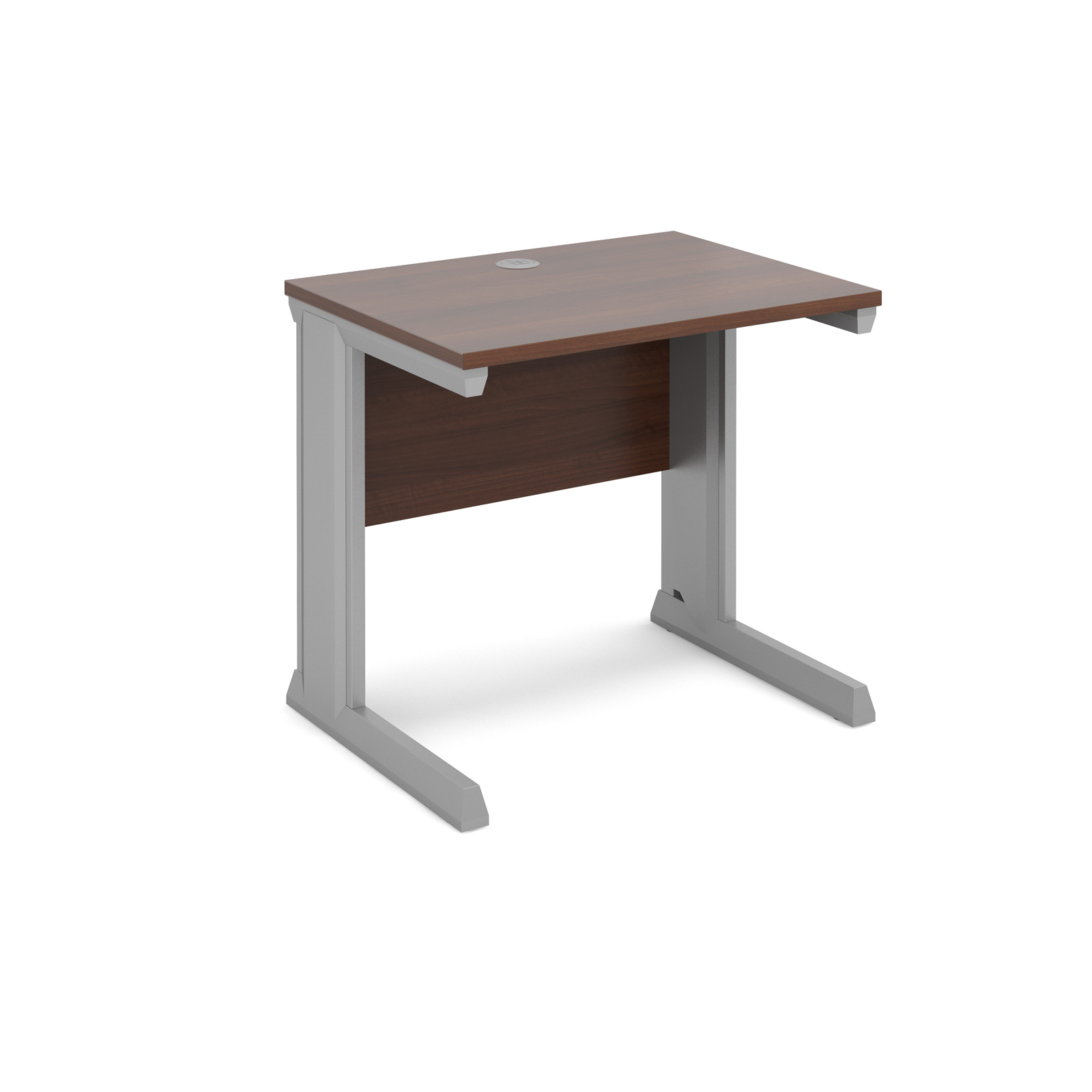 Dams Vivo II Walnut Desk | Straight 600 Deep
