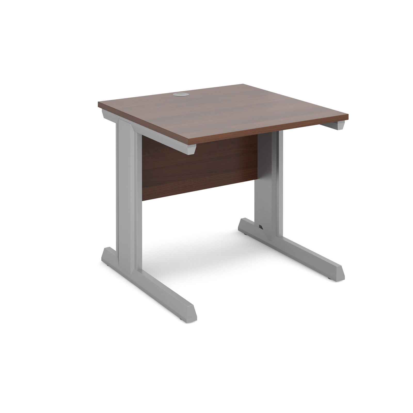 Dams Vivo II Walnut Desk | Straight 800 Deep
