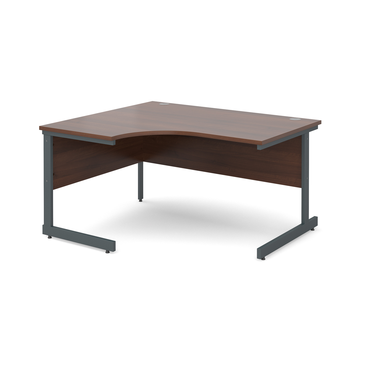 Dams Contract 25 Corner Workstation Walnut