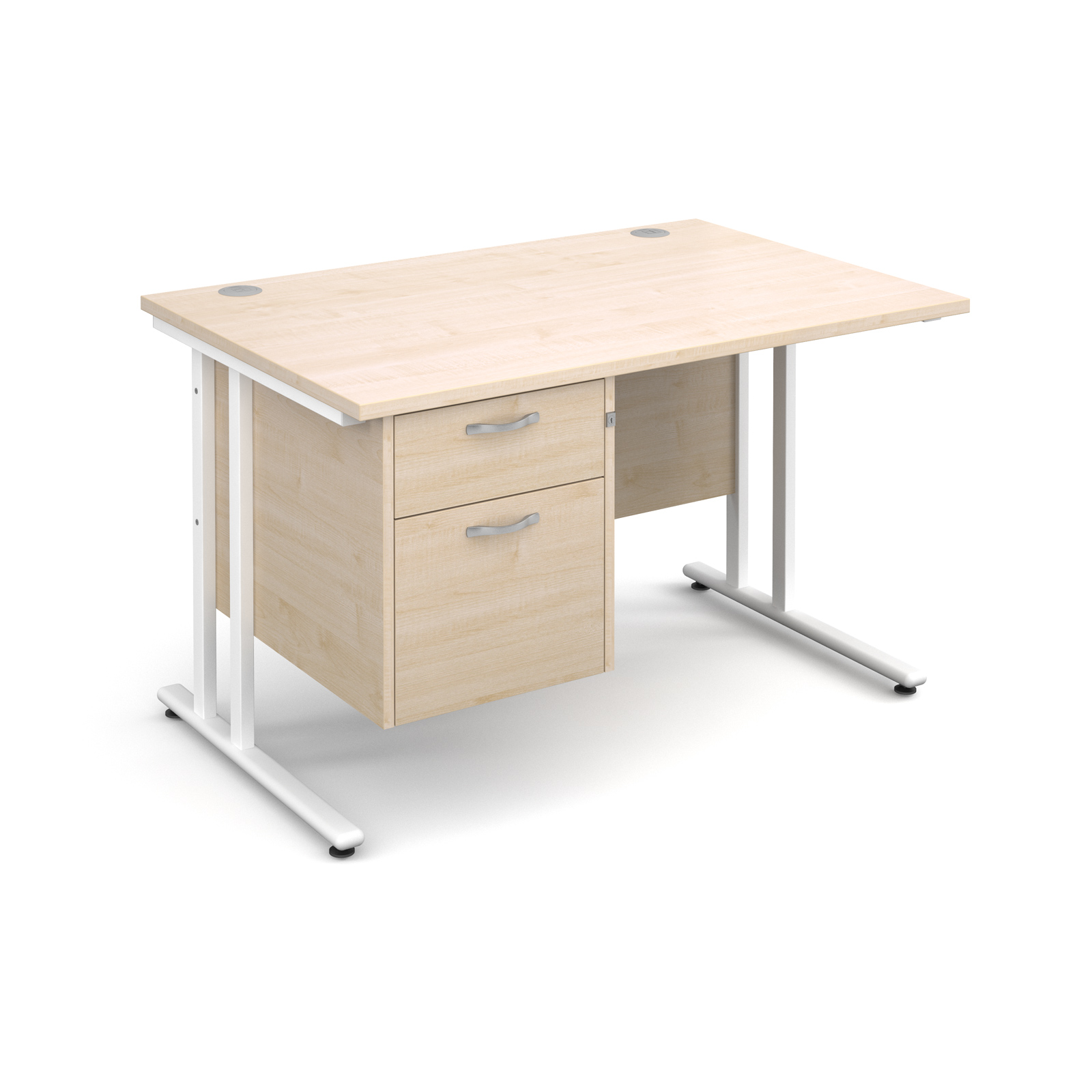 Dams Maestro 25 WL Maple Desk | Straight Single Pedestal