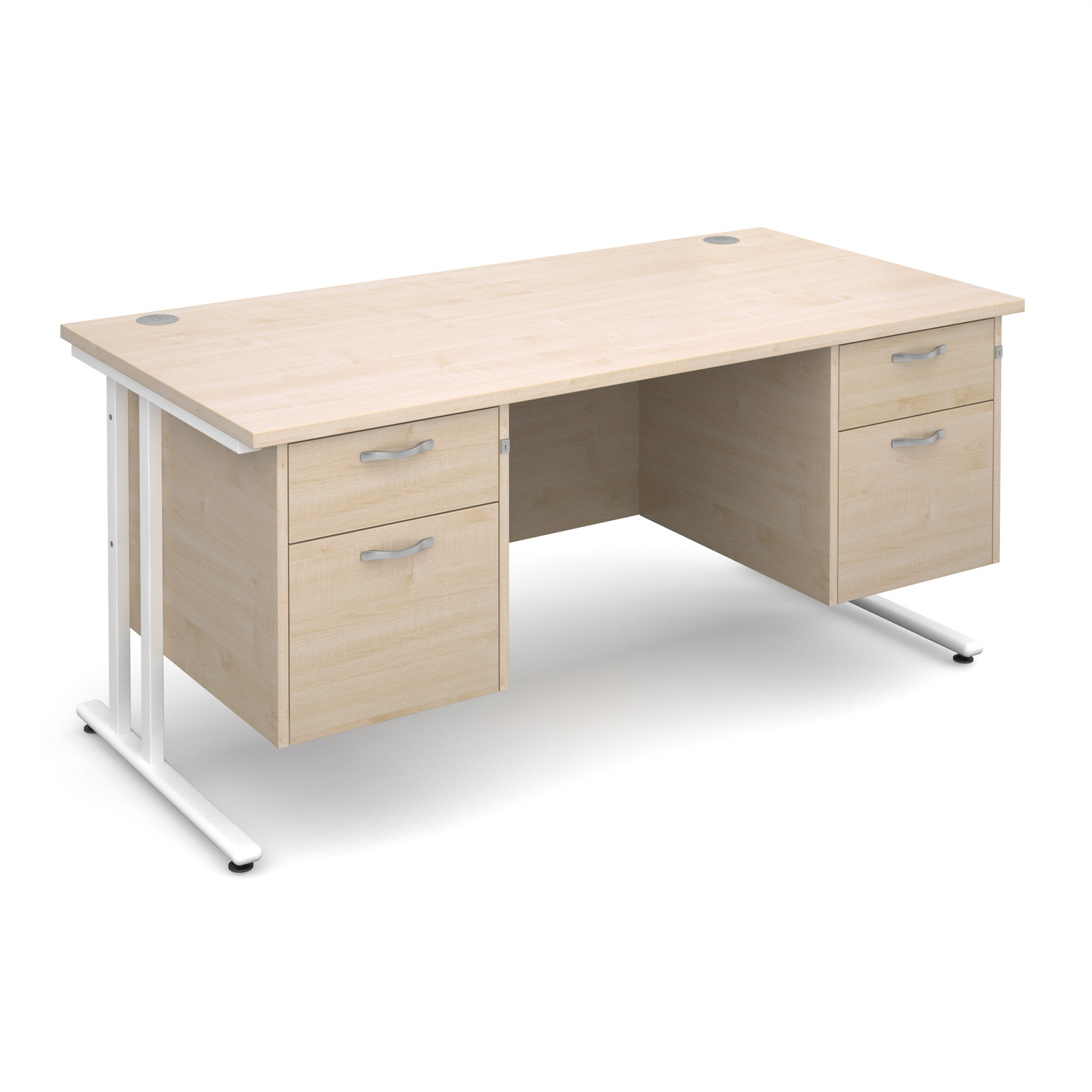 Dams Maestro 25 WL Maple Desk | Straight Double Pedestal