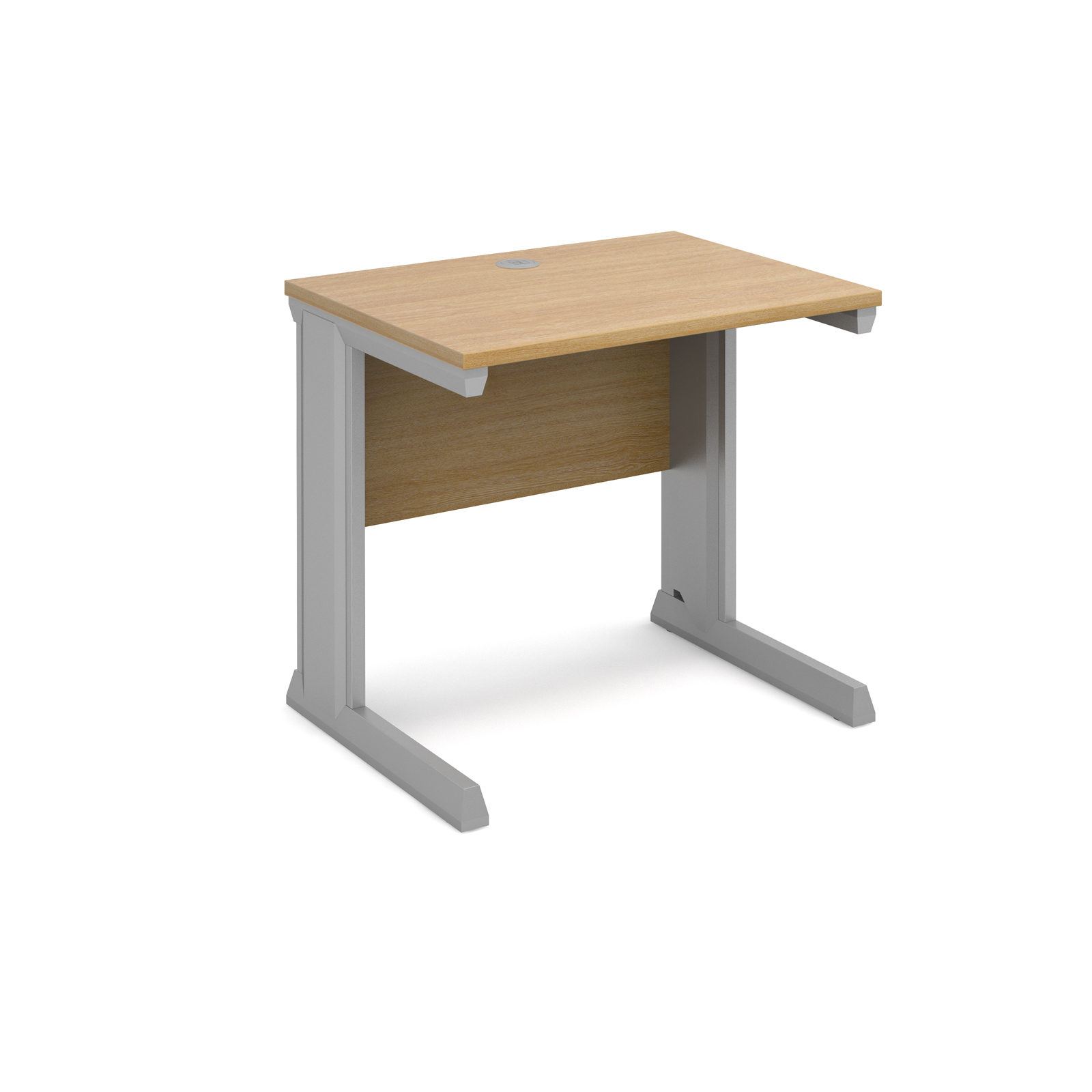 Dams Vivo II Oak Desk | Straight 600 Deep
