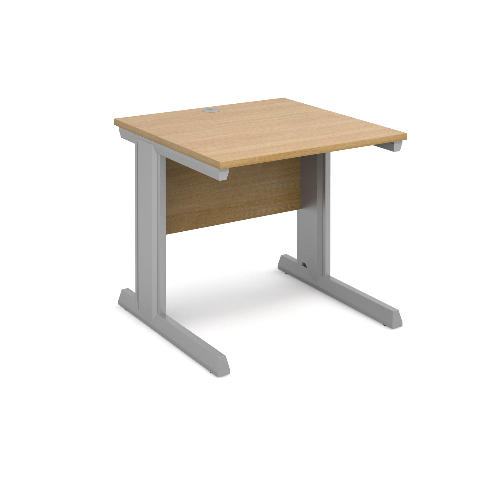 Dams Vivo II Oak Desk | Straight 800 Deep