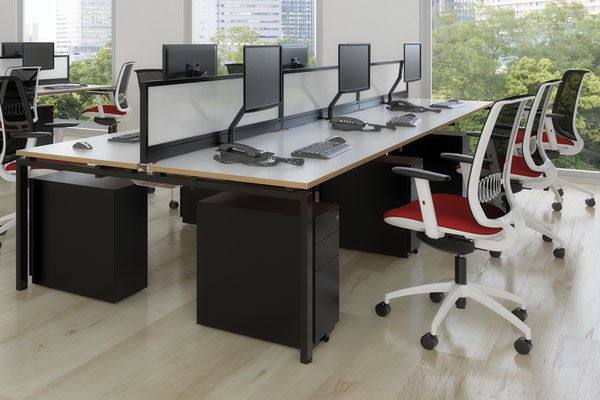 Adapt Bench Desks Floating Top Design