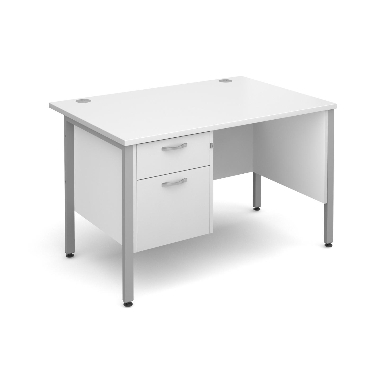 Active M25 SHL Straight Desk   Single Pedestal