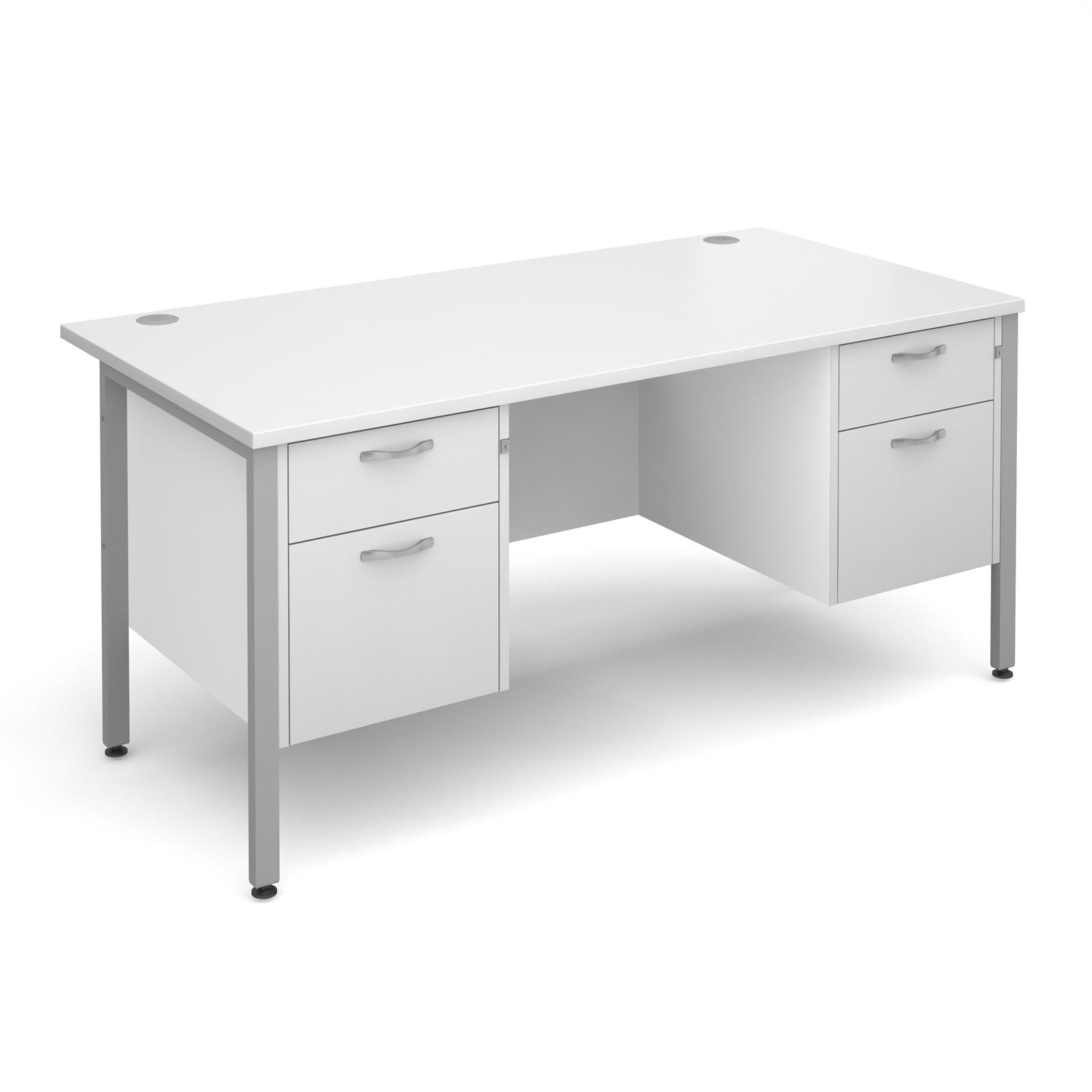 Active M25 SHL Straight Desk   Double Pedestal
