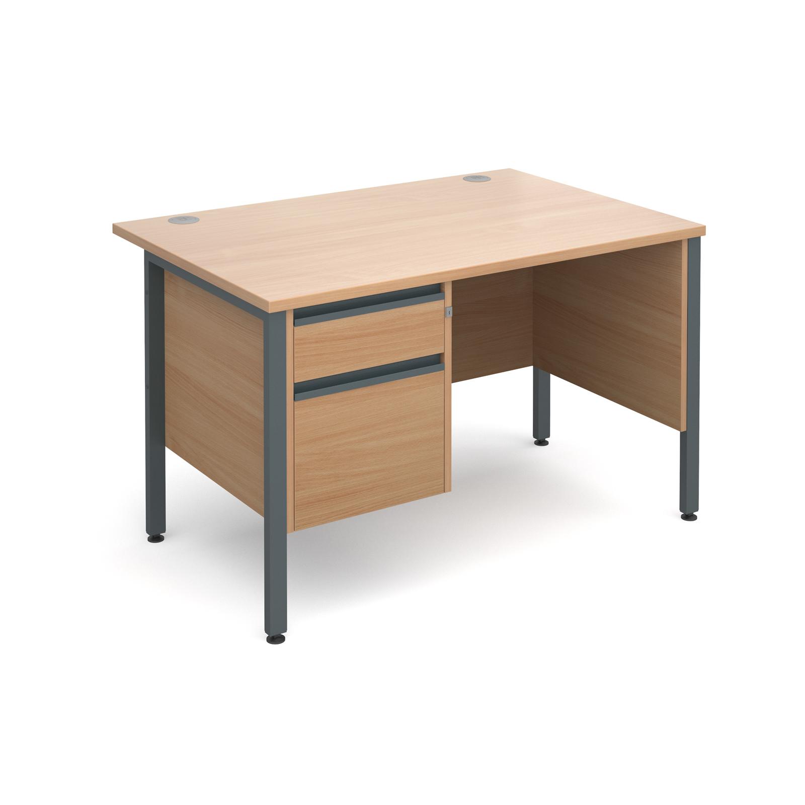 Active M25 GHL Straight Desk   Single Pedestal