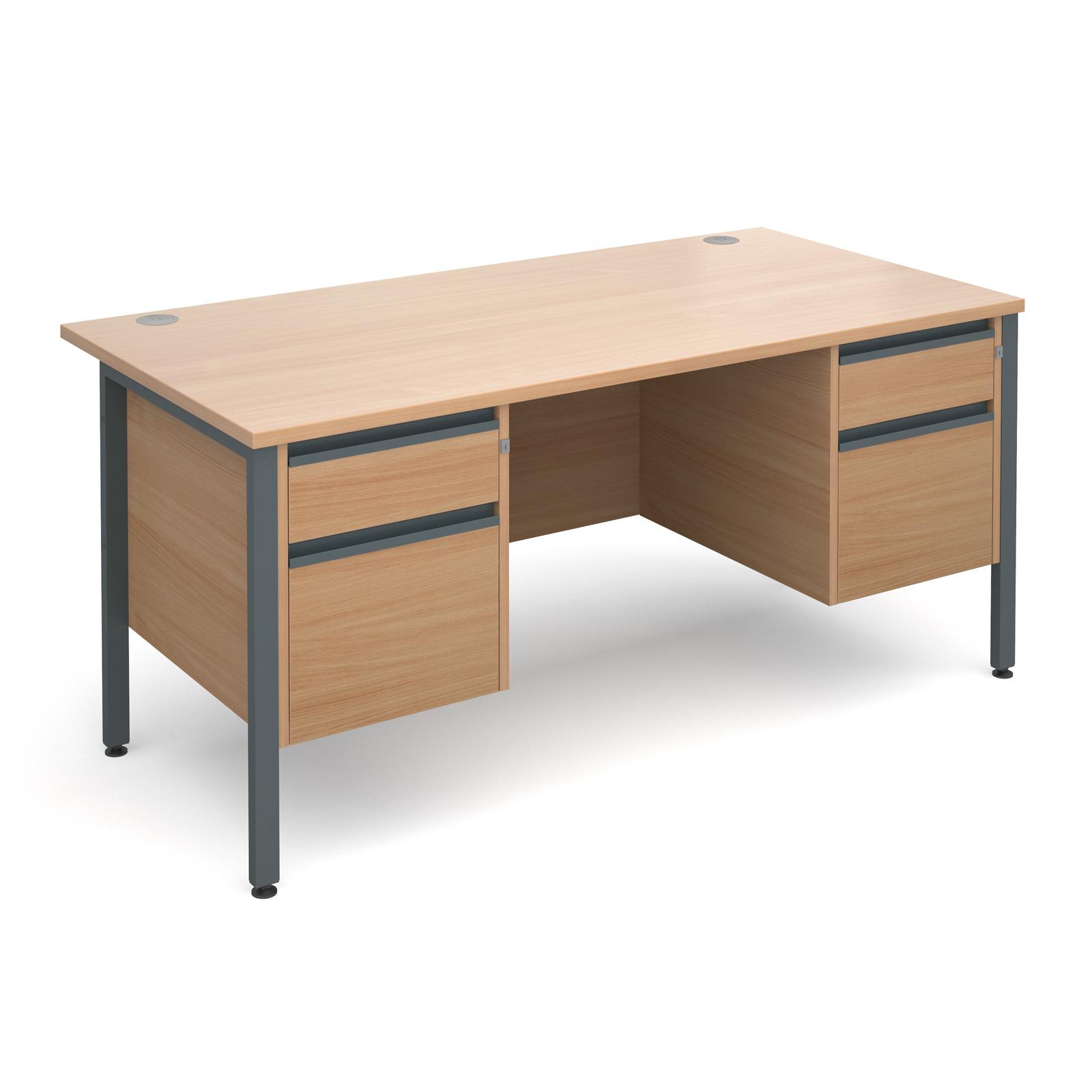 Active M25 GHL Straight Desk   Double Pedestal