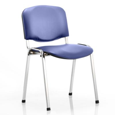 ISO Chrome Frame Vinyl Stacking Chair (Set of 4)