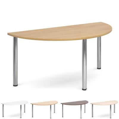 Dams Flexi Chrome Leg Table - Semi Circle