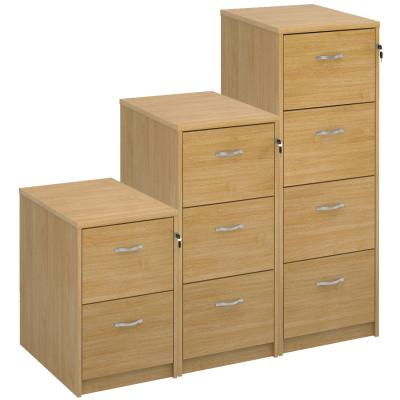 Dams Deluxe Executive Oak Filing Cabinet