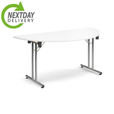 Dams Flexi Folding Table - Semi Circle - White