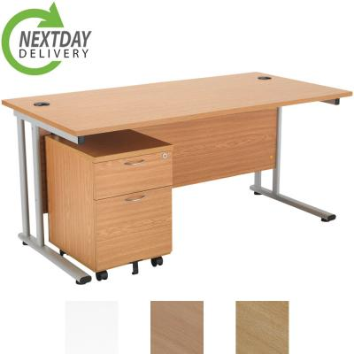 TC Lite Straight Desk BUNDLE - Next Day