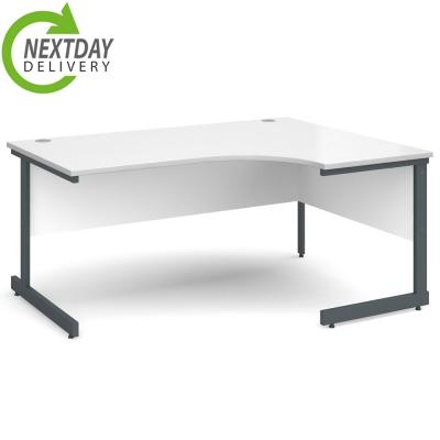 Dams Contract 25 Corner Workstation White