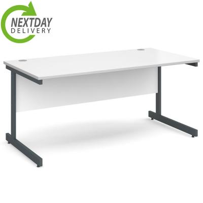Dams Contract 25 Straight Desk White