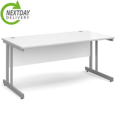 Dams Momento Straight Office Desk White
