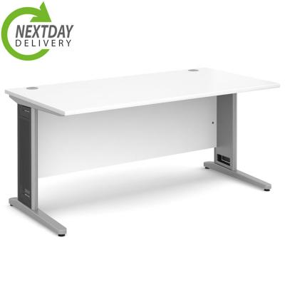 Dams Largo Straight Office Desk White