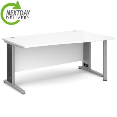 Dams Largo Wave Desk White