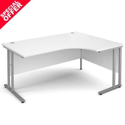 Dams Maestro 25 SL White Desk | Corner
