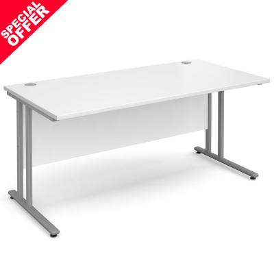 Dams Maestro 25 SL Straight Office Desk White