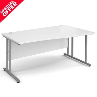 Dams Maestro 25 SL White Desk | Wave