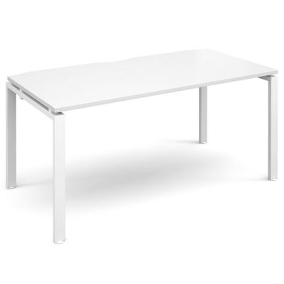 Dams Adapt II Single Bench Desk White