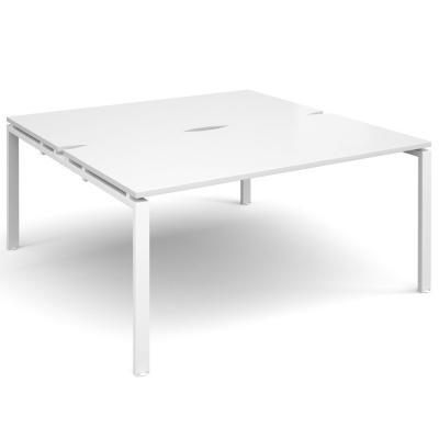 Dams Adapt II Bench Desks White