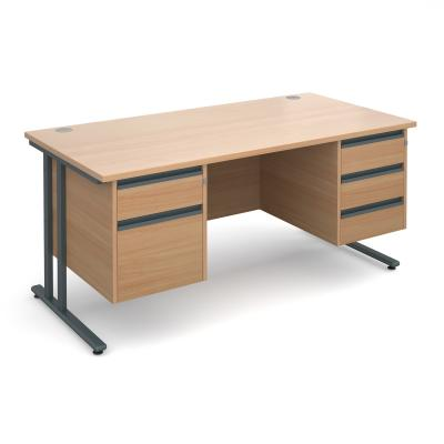 Dams Maestro 25 GL Straight Desk Double Pedestal