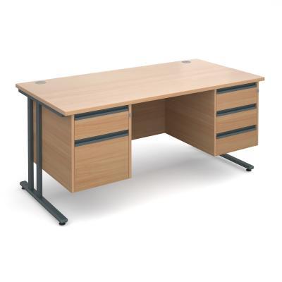 Dams Maestro 25 GL Straight Desk Double Pedestal