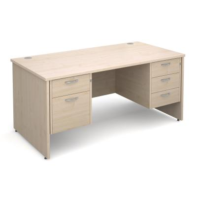 Active M25 PL Straight Desk | Double Pedestal