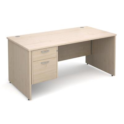 Active M25 PL Straight Desk | Single Pedestal