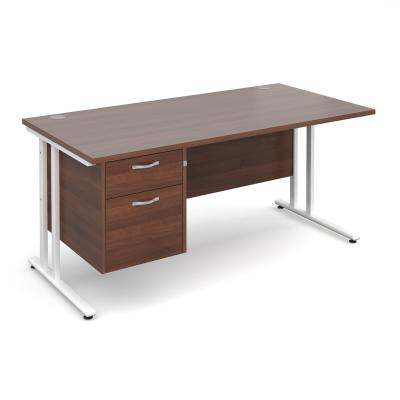 Active M25 WL Straight Desk | Single Pedestal