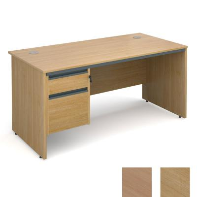 Active M18 Straight Panel Desk | Single Pedestal