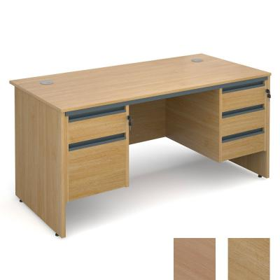 Active M18 Straight Panel Desk | Double Pedestal